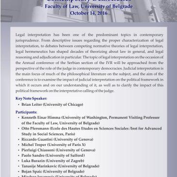 Tumačenje prava – Uloga sudija u savremenim demokratijama