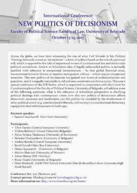 International Conference – New Politics of Decisionism