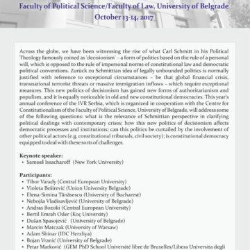 Međunarodna konferencija – Nova politika decizionizma