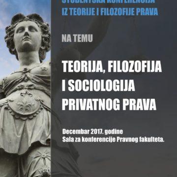 Spisak izlagača na četvrtoj Studentskoj konferenciji iz teorije, filozofije i sociologije prava