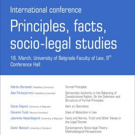 Međunarodna konferencija – Principles, facts, socio-legal studies