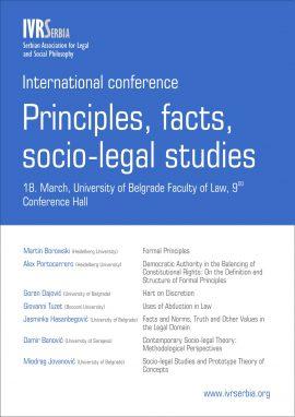 Međunarodna konferencija – Principles, facts, socio-legal studies