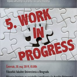 Peta Work in Progress konferencija Srpskog udruženja za pravnu i socijalnu filozofiju