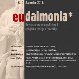 Eudaimonia Br. 2 | Septembar 2018