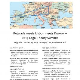 Belgrade meets Lisbon meets Krakow – 2019 Legal Theory Summit