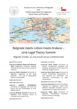 Belgrade meets Lisbon meets Krakow – 2019 Legal Theory Summit