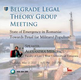 Alexandra Mercescu, State of Emergency in Romania: Towards Penal (or Military) Populism?