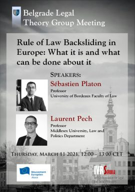 Rule of Law Backsliding in Europe: What it is and what Can be done about it