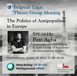 Petr Agha, The Politics of Antipopulism in Europe