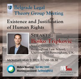 Boško Tripković, Existence and Justification of Human Rights