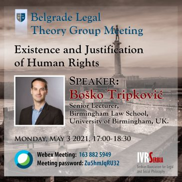 Boško Tripković, Existence and Justification of Human Rights